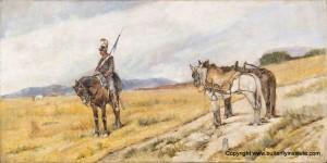 Giovanni Fattori In vedetta olio su tela, cm 68 x 124